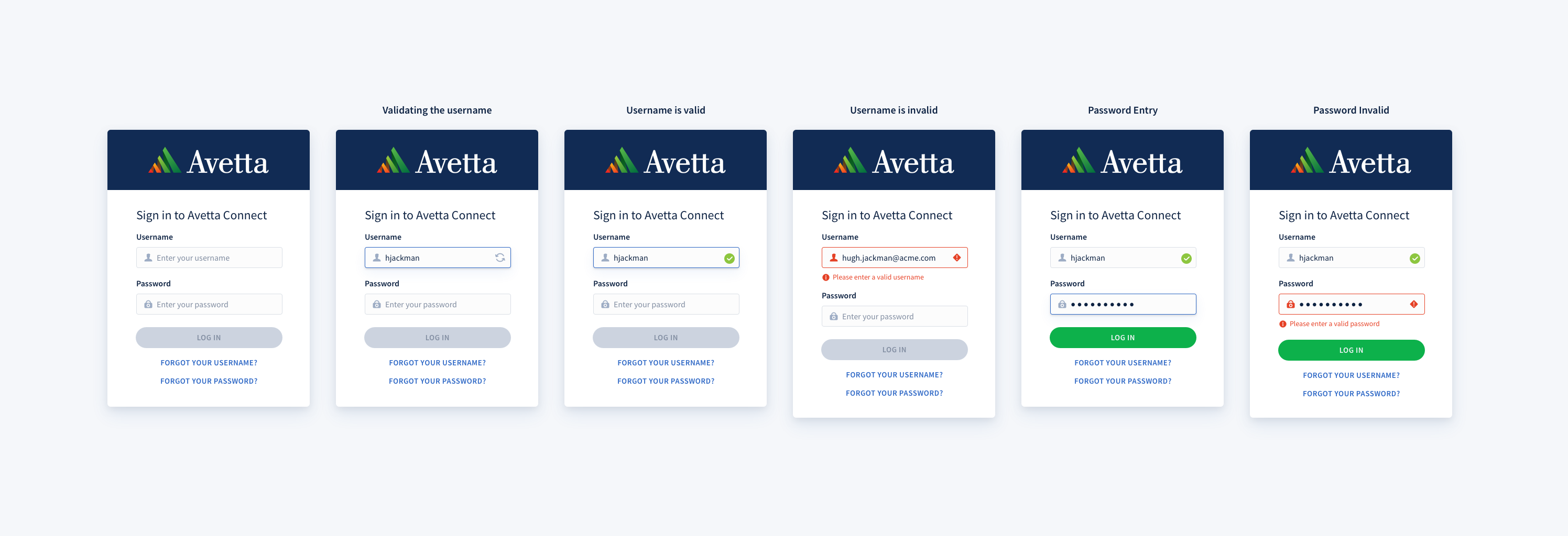 Workflow with validation for user login - Avetta | Chris